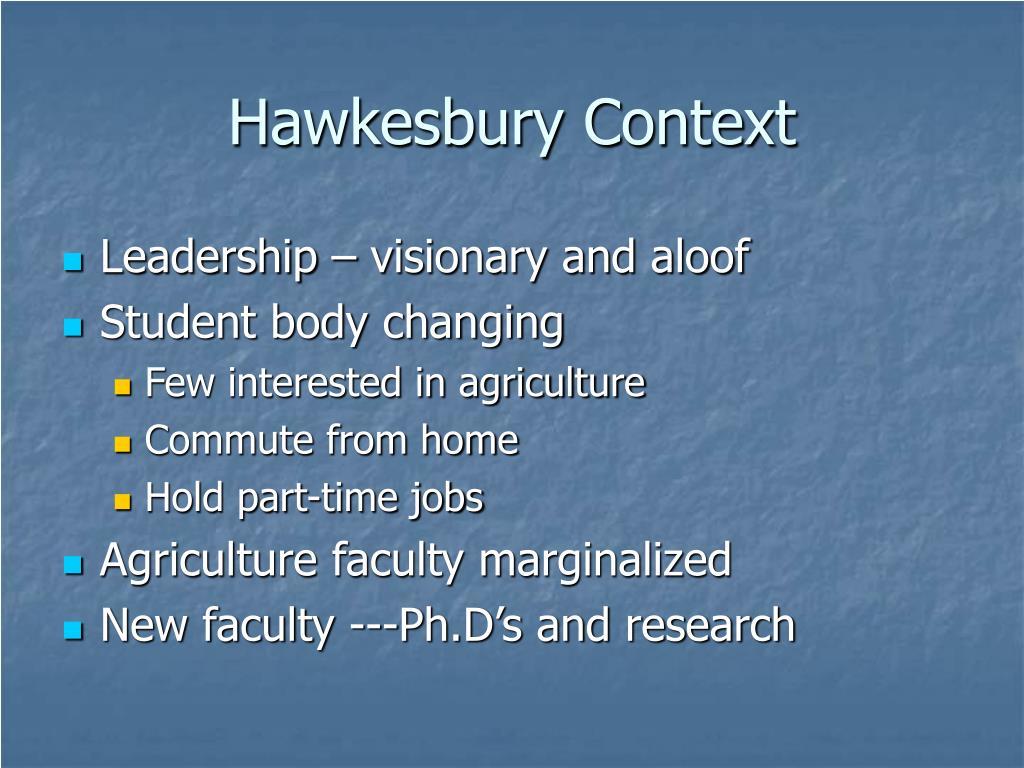 Hawkesbury Context