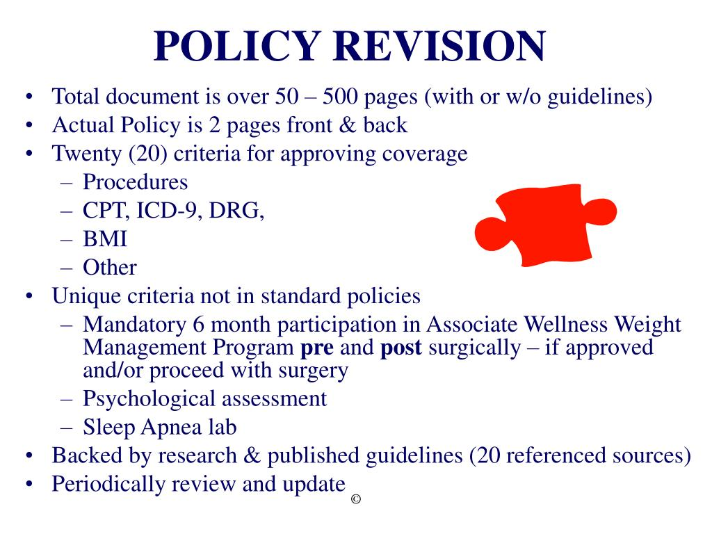 POLICY REVISION