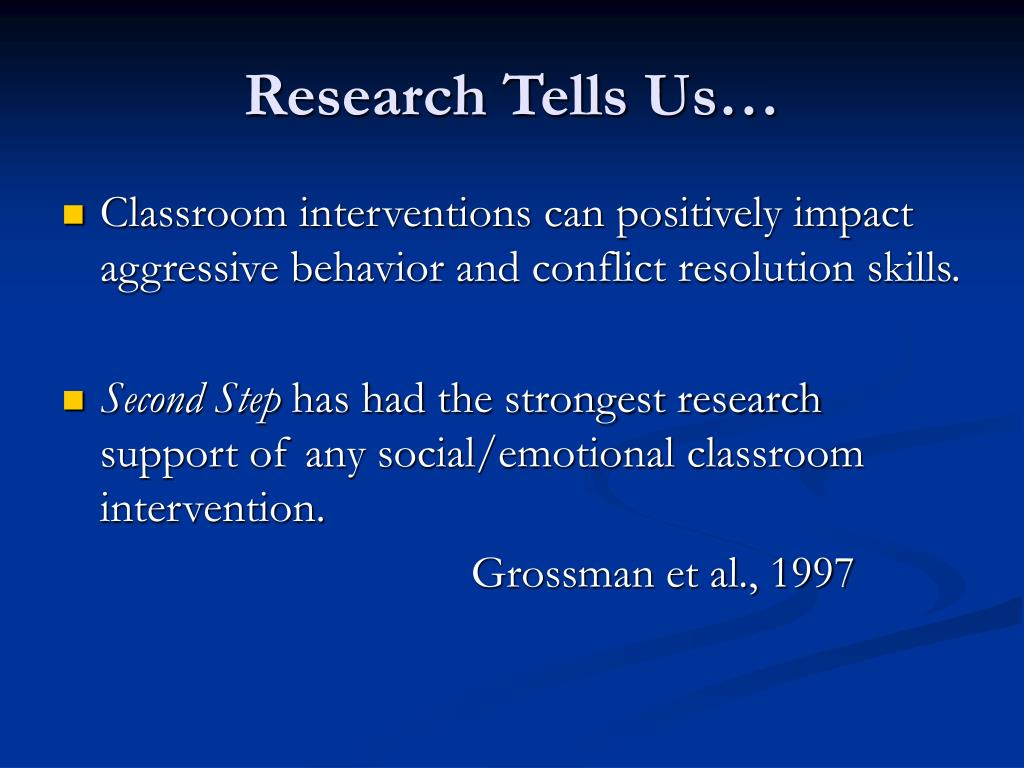 Research Tells Us…