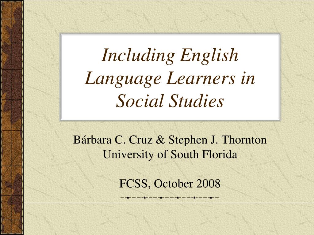 including english language learners in social studies l.