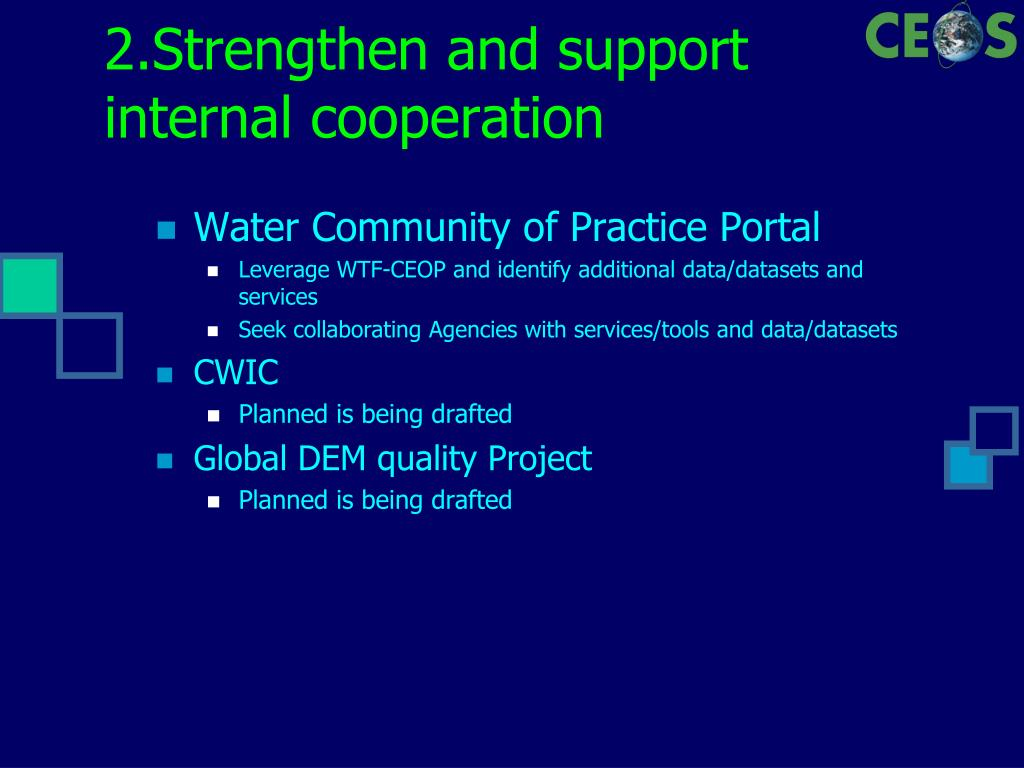 2.Strengthen and support internal cooperation