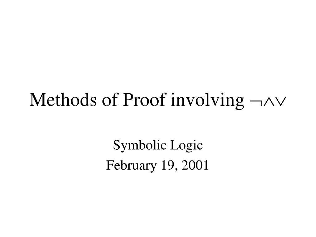 methods of proof involving l.