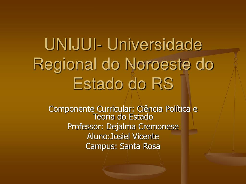 unijui universidade regional do noroeste do estado do rs l.
