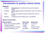 introduction to quality control charts