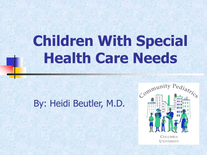 children with special health care needs n.