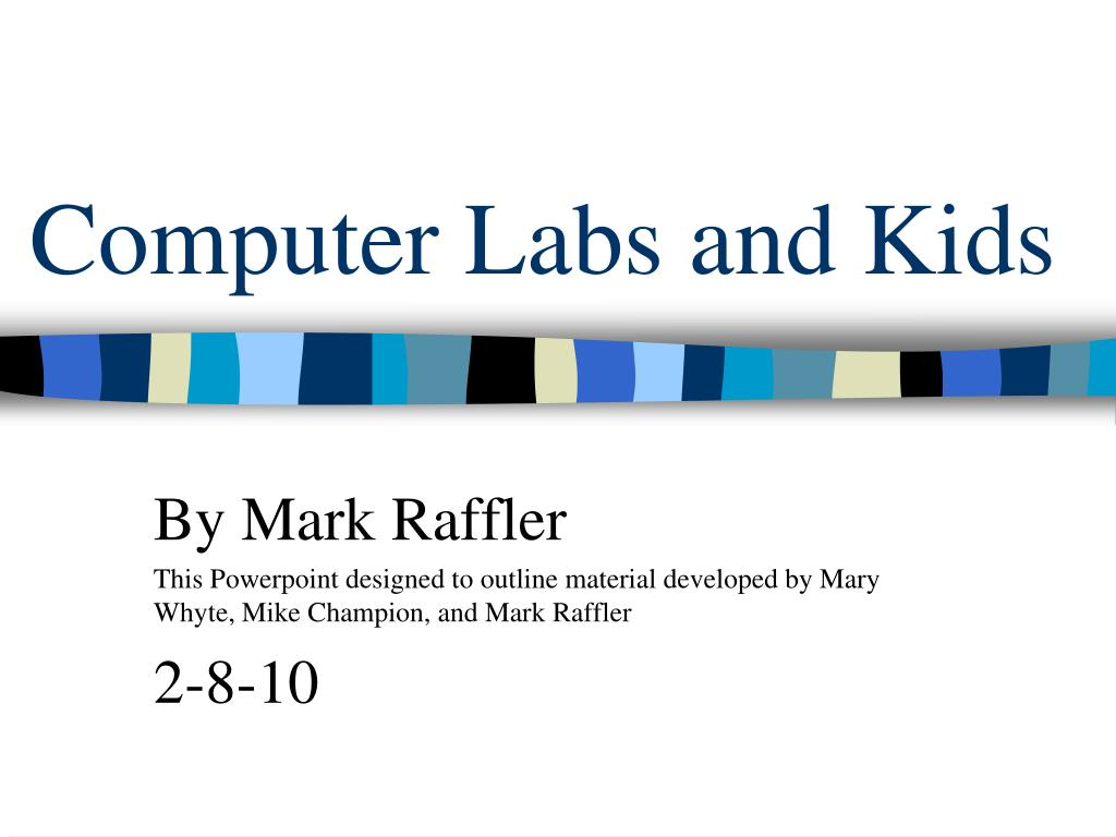 computer labs and kids l.