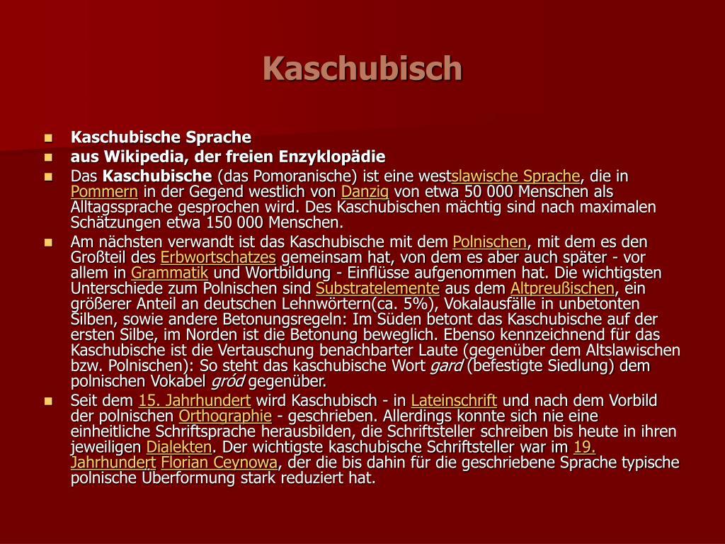 kaschubisch l.