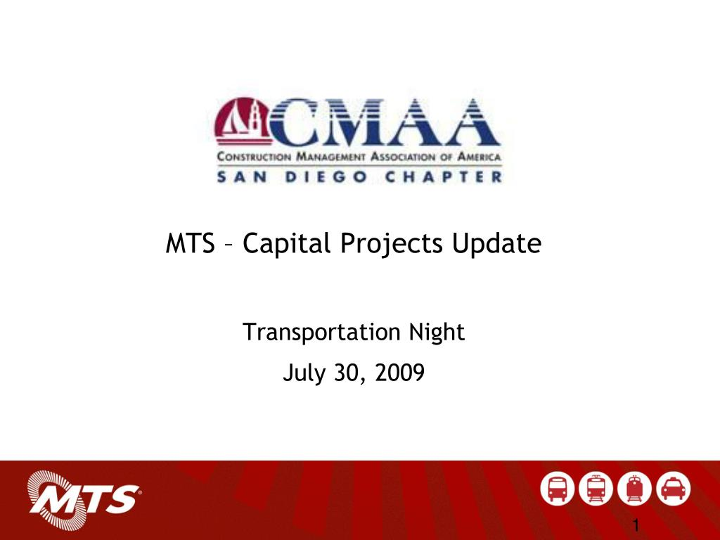 mts capital projects update transportation night july 30 2009 l.