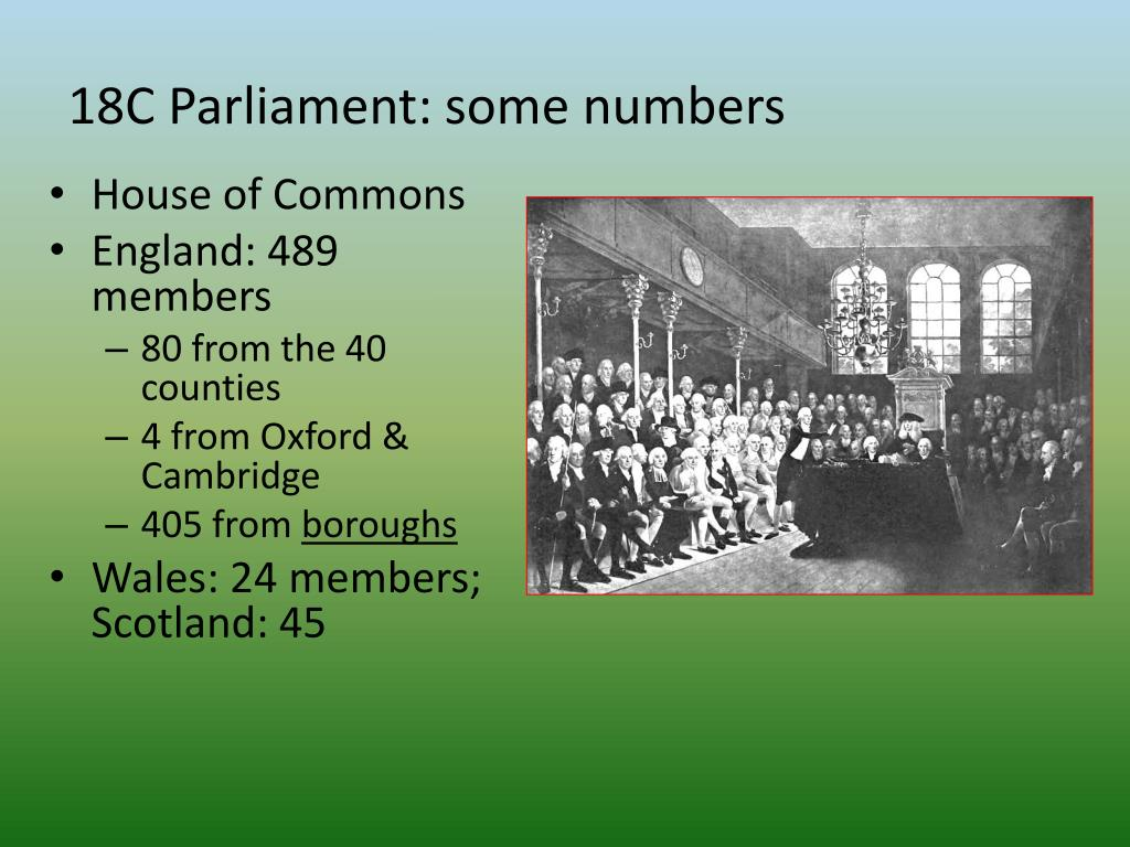 18C Parliament: some numbers