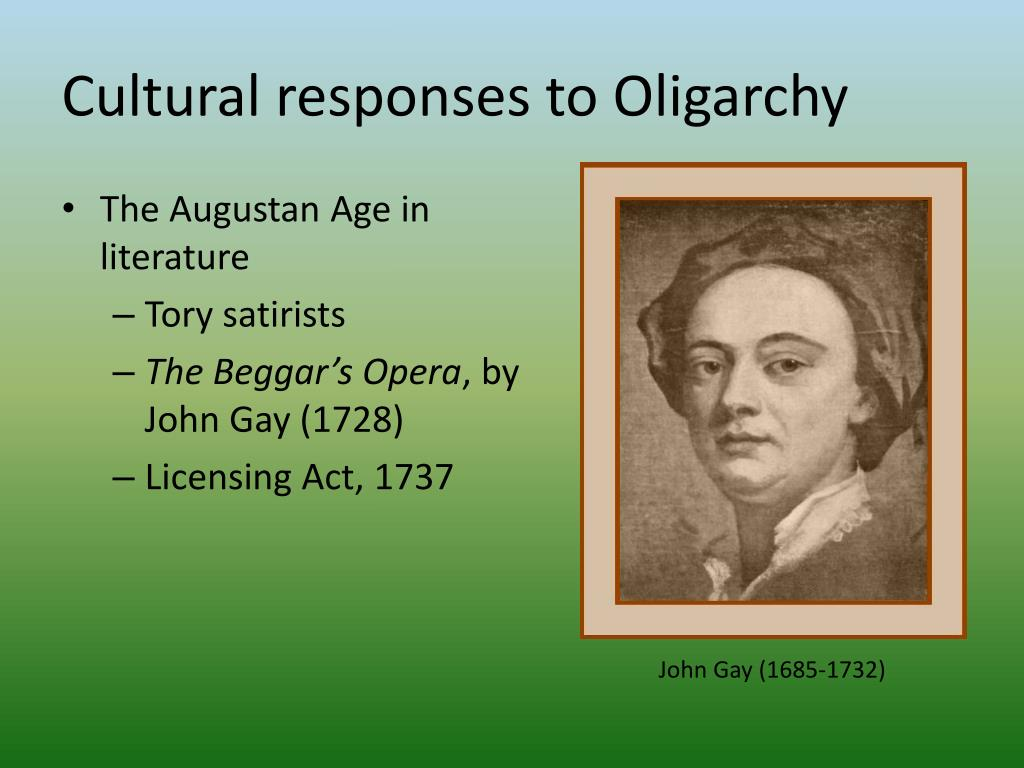 Cultural responses to Oligarchy