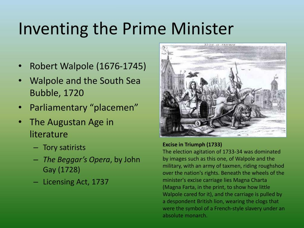 Inventing the Prime Minister