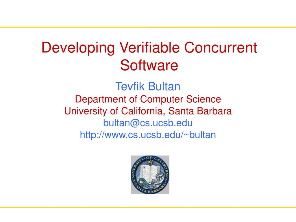 developing verifiable concurrent software l.