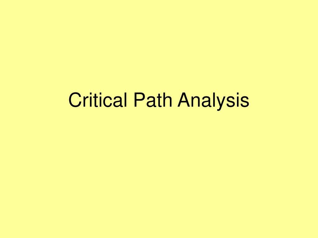 critical path analysis l.