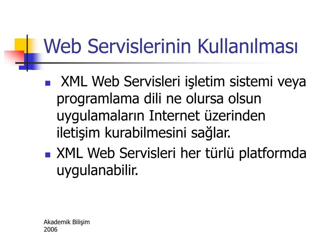 Web Servislerinin Kullanılması