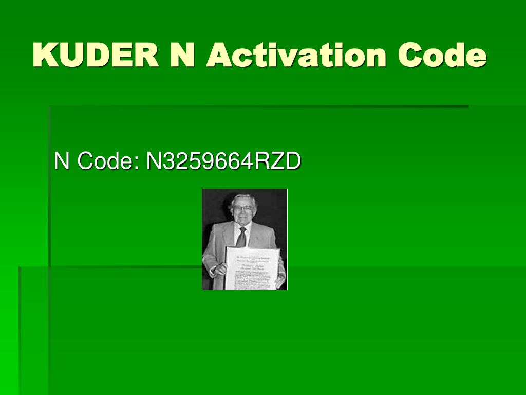 KUDER N Activation Code