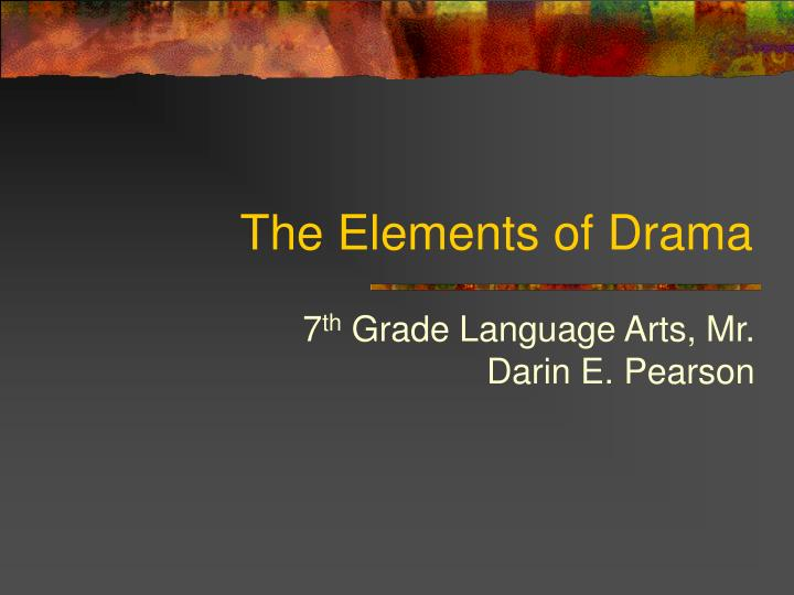 the elements of drama n.