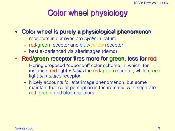 Color wheel physiology