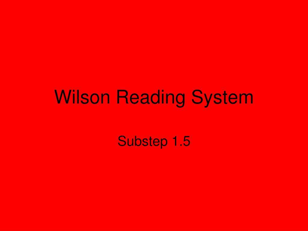 wilson reading system l.