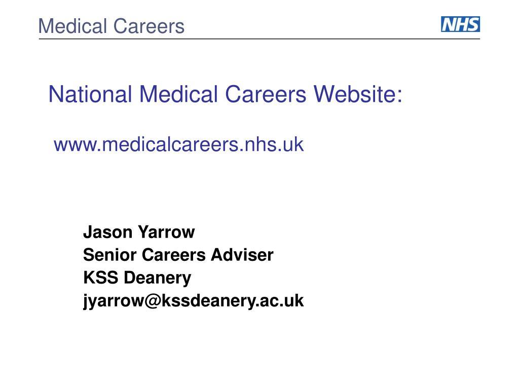 national medical careers website www medicalcareers nhs uk l.