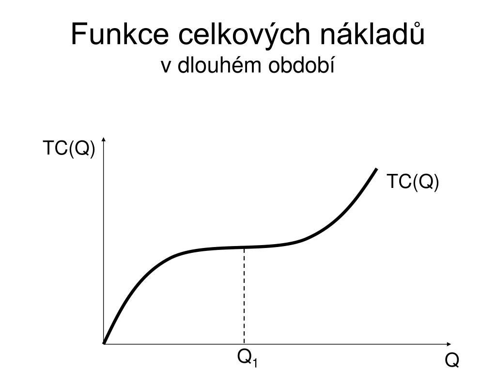 Funkce celkových nákladů