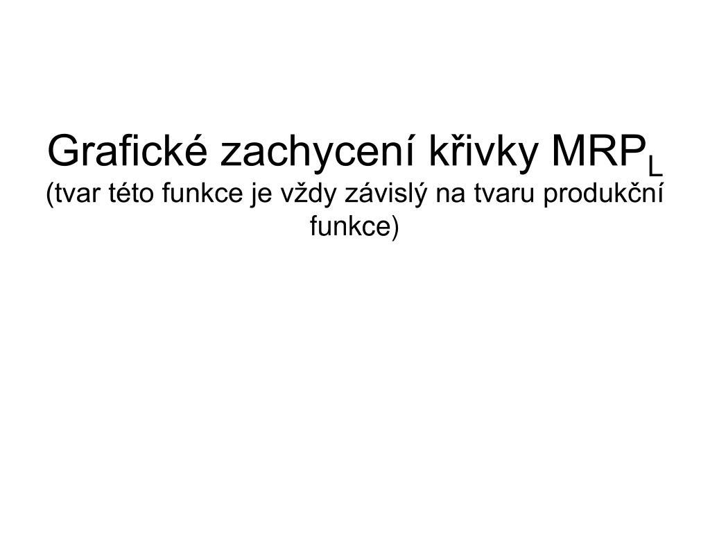 Grafické zachycení křivky MRP