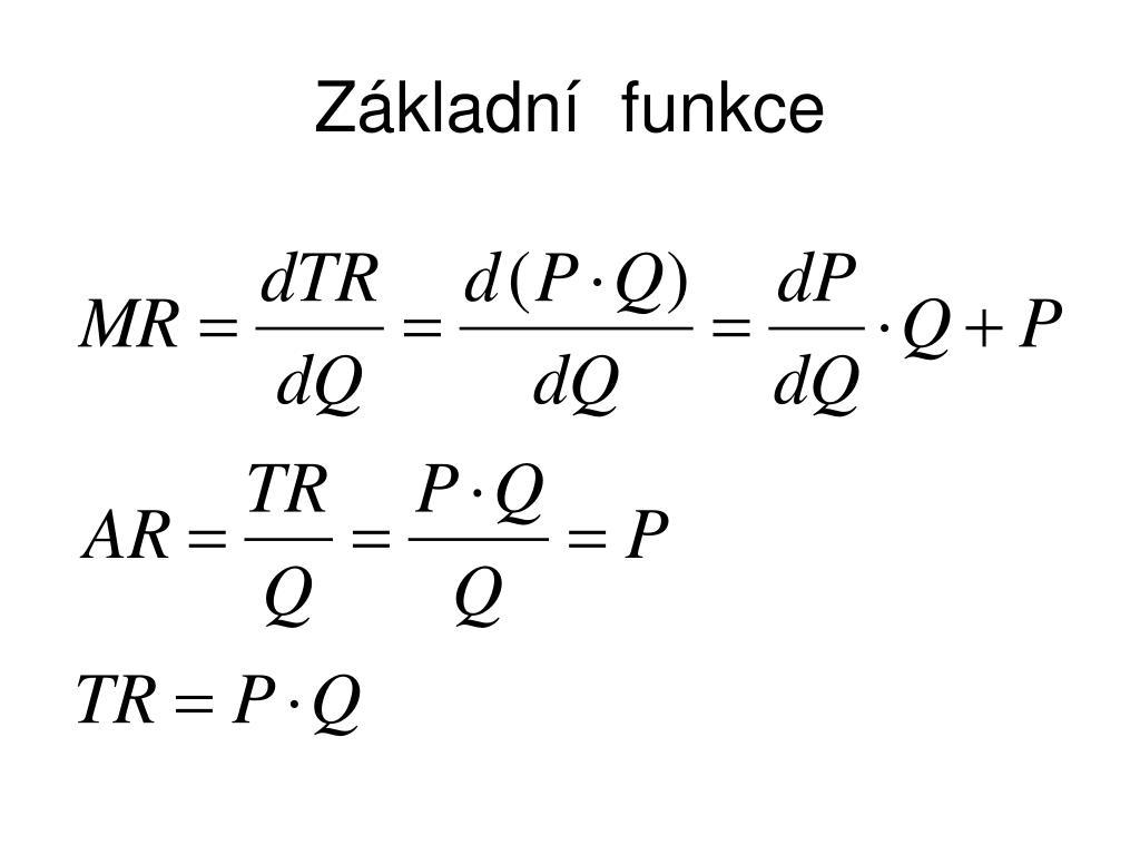 Základní  funkce