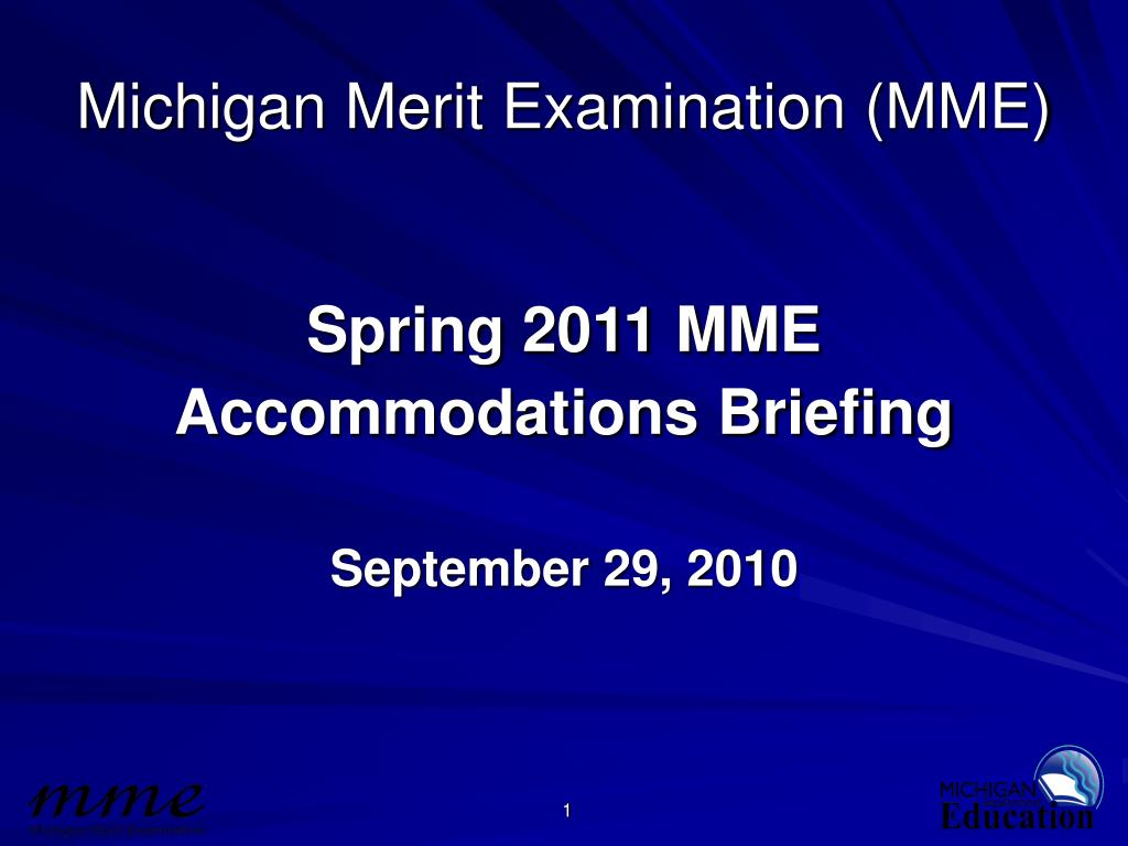 michigan merit examination mme l.