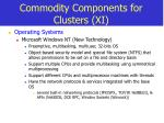 commodity components for clusters xi