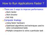 how to run applications faster