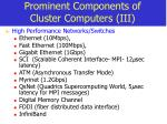prominent components of cluster computers iii