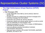 representative cluster systems iv