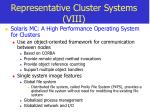 representative cluster systems viii