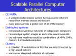 scalable parallel computer architectures9