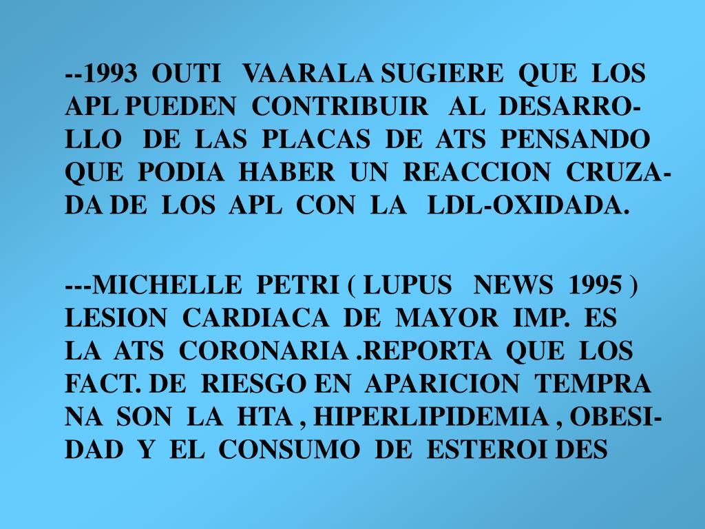 --1993  OUTI   VAARALA SUGIERE  QUE  LOS