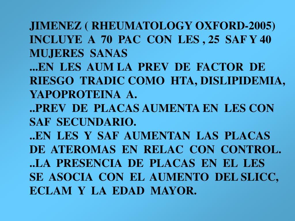 JIMENEZ ( RHEUMATOLOGY OXFORD-2005)