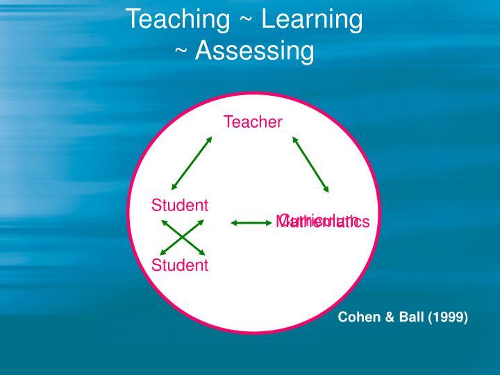 Teaching learning assessing