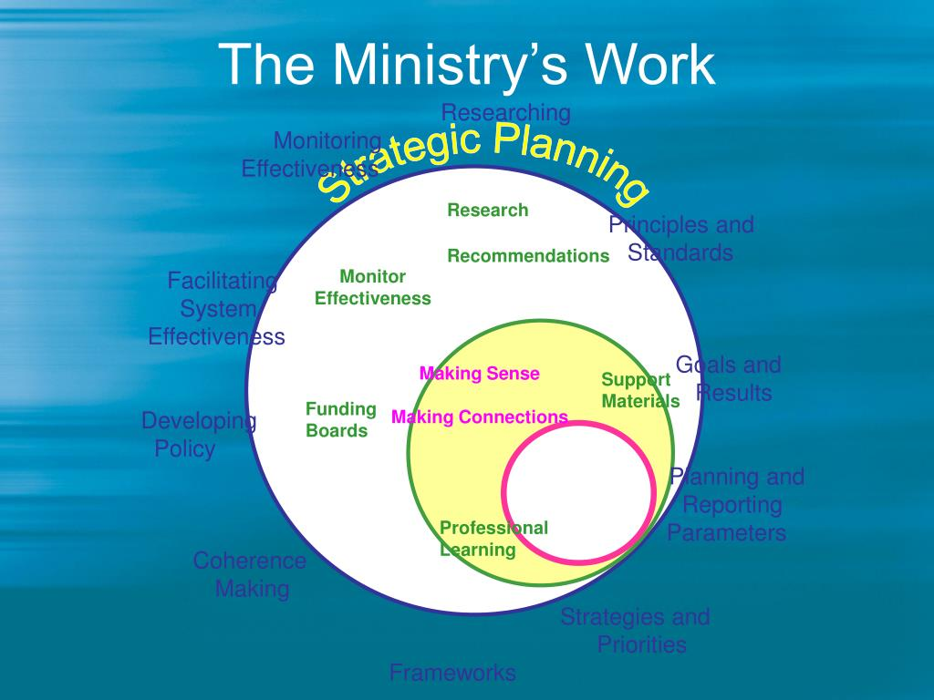 The Ministry's Work