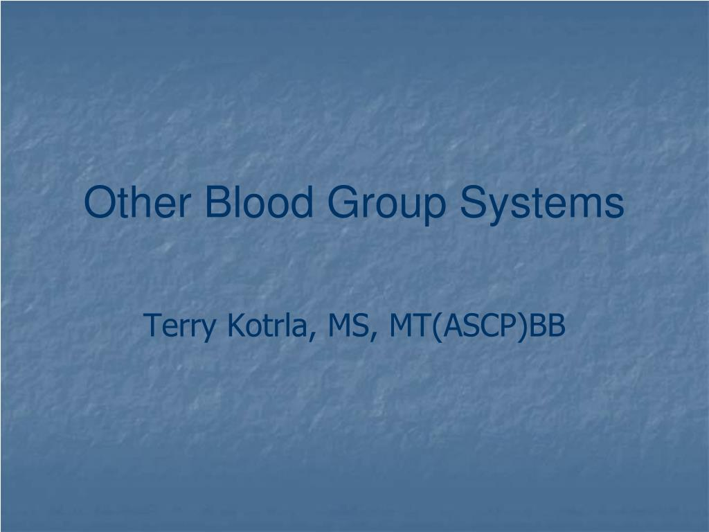 other blood group systems l.