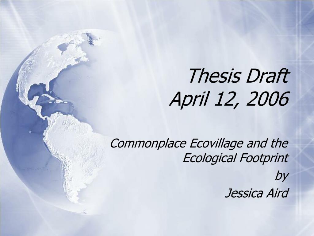 thesis draft april 12 2006 l.