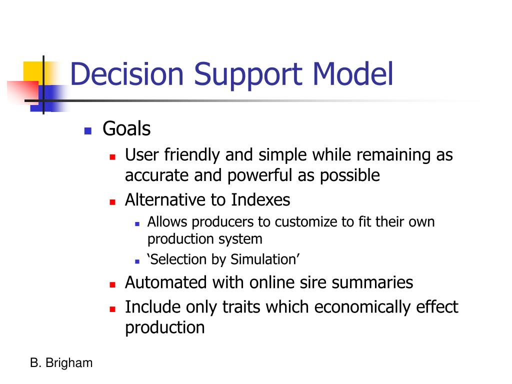 Decision Support Model