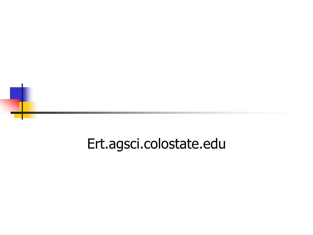 Ert.agsci.colostate.edu