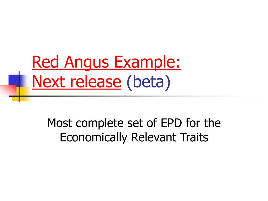 Red Angus Example: