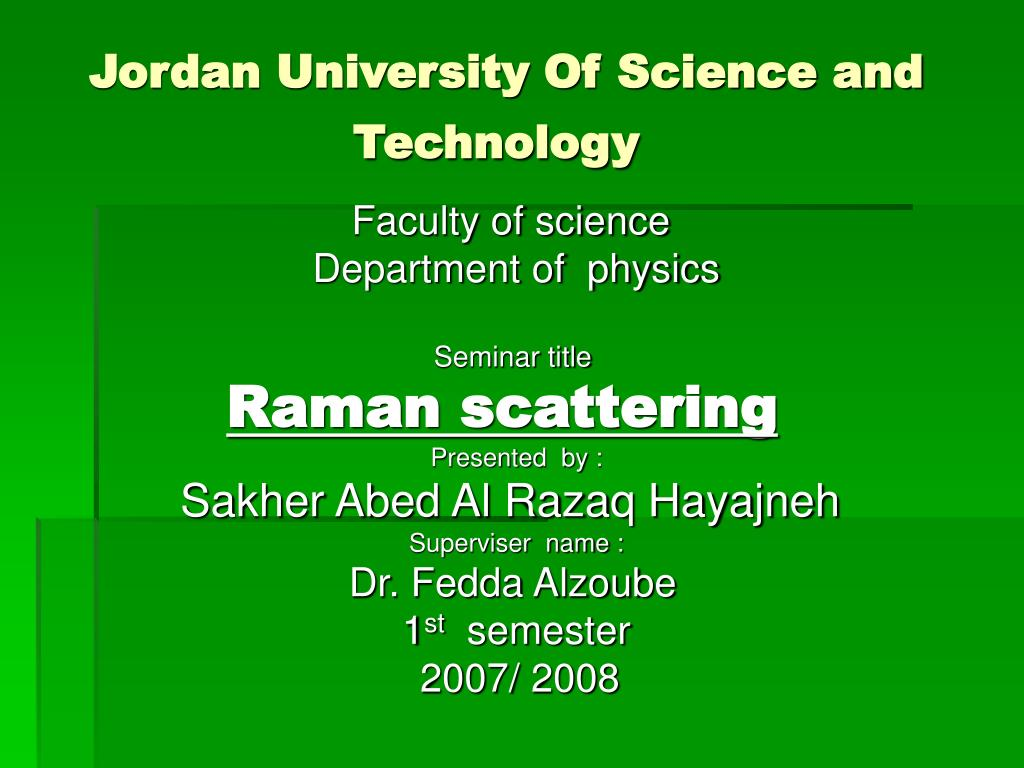 jordan university of science and technology l.