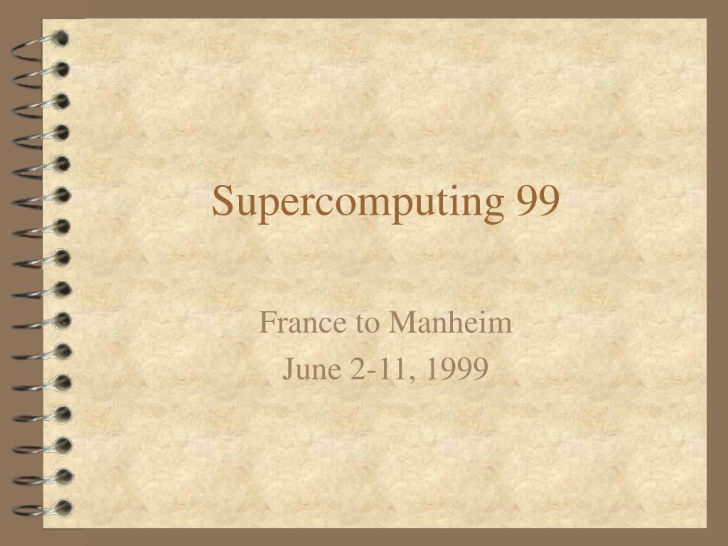 supercomputing 99 l.