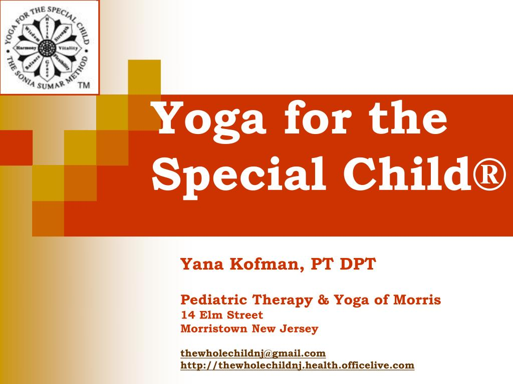 yoga for the special child l.