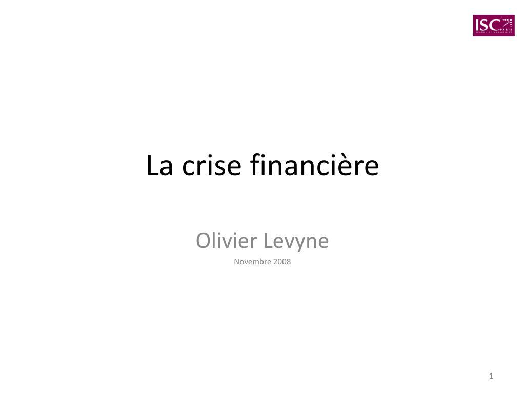 la crise financi re l.