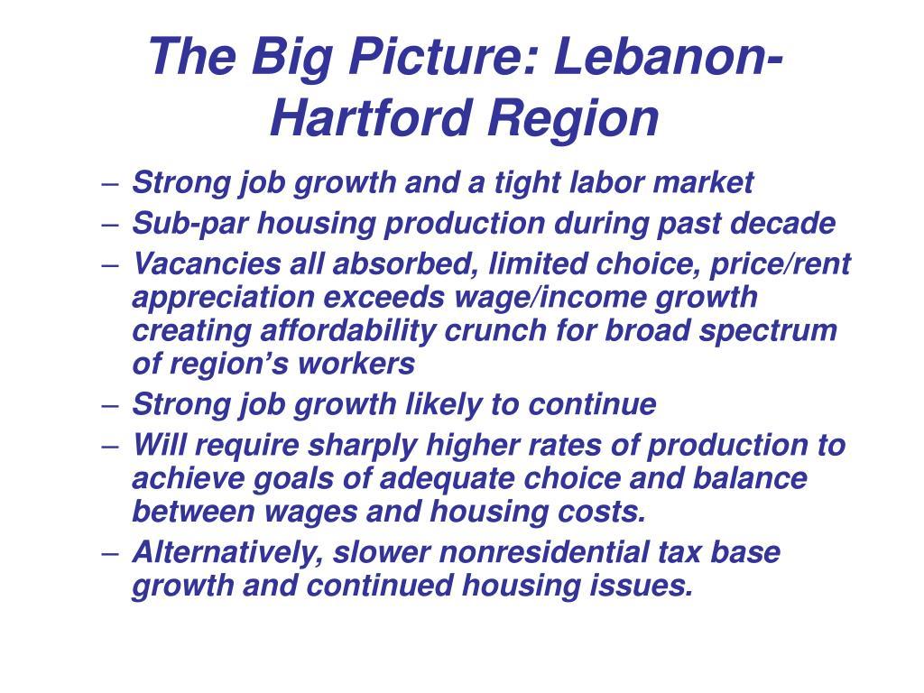 The Big Picture: Lebanon-Hartford Region