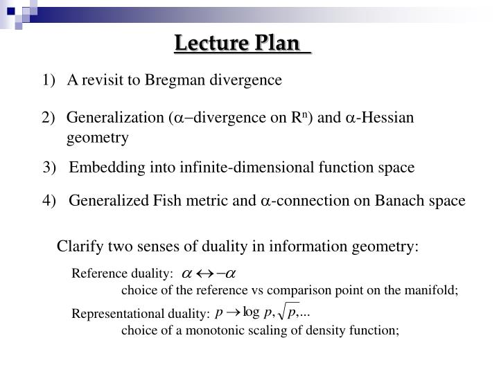 Clarify two senses of duality in information geometry: