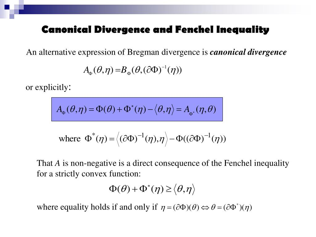 Canonical Divergence and Fenchel Inequality