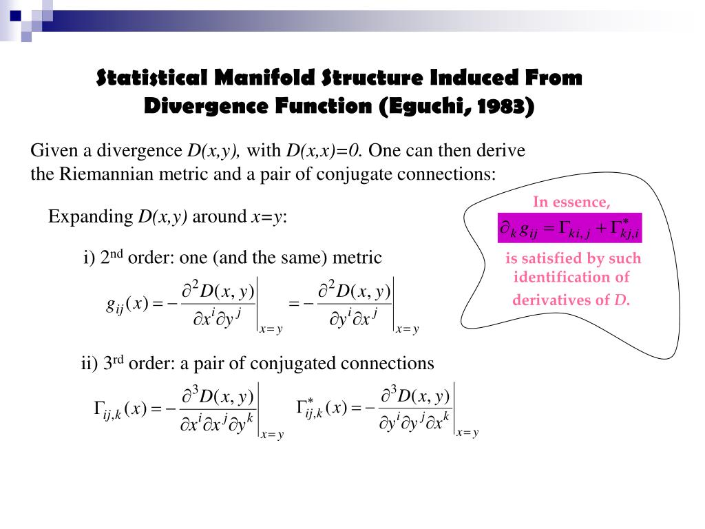Statistical Manifold Structure Induced From